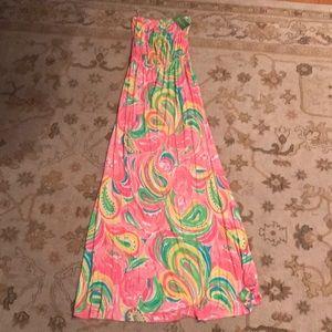 Lily Pulitzer Flamingo Maxi Dress